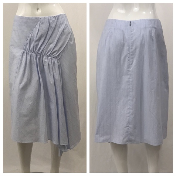 Nordstrom Signature Dresses & Skirts - Nordstrom Signature Pinstripe Blue Skirt Size 10